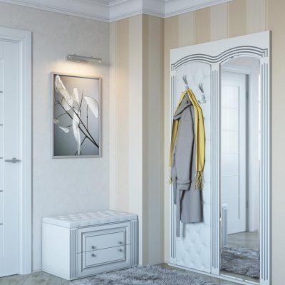 Интерьер из белой мебели