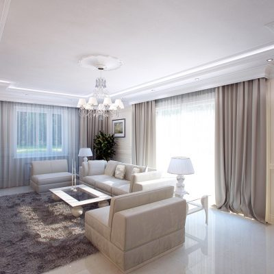 Форма комнаты гостиной