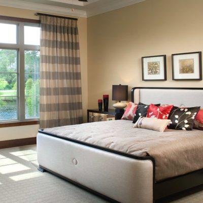 Обыденное оформление спальни
