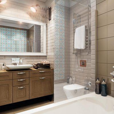 Дизайнерская ванная на фото примере