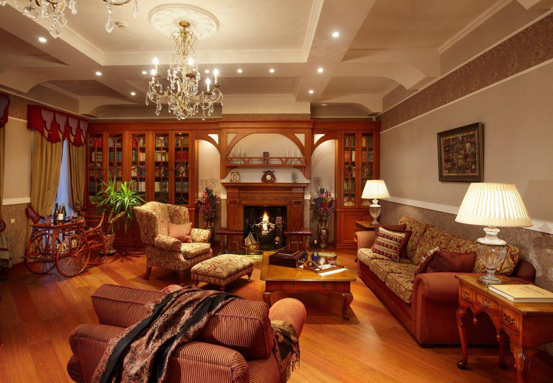 Гостиная в английском стиле - союз роскоши и аристократизма
