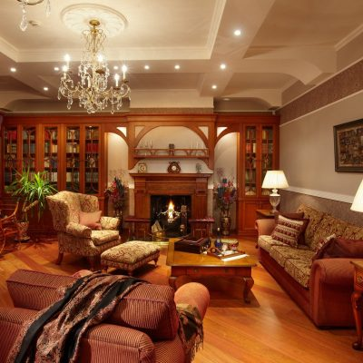 Кабинет гостиная и библиотека