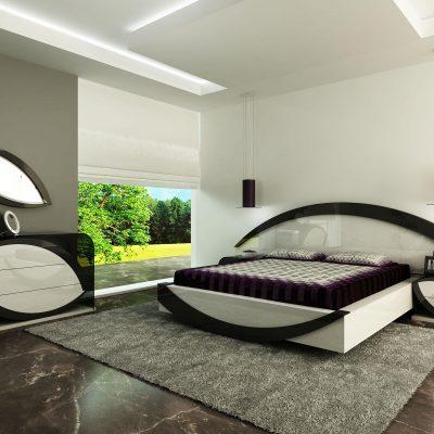 Стильный гарнитур в спальне