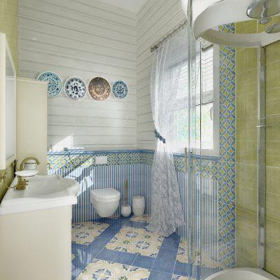 Маленькое помещение ванной