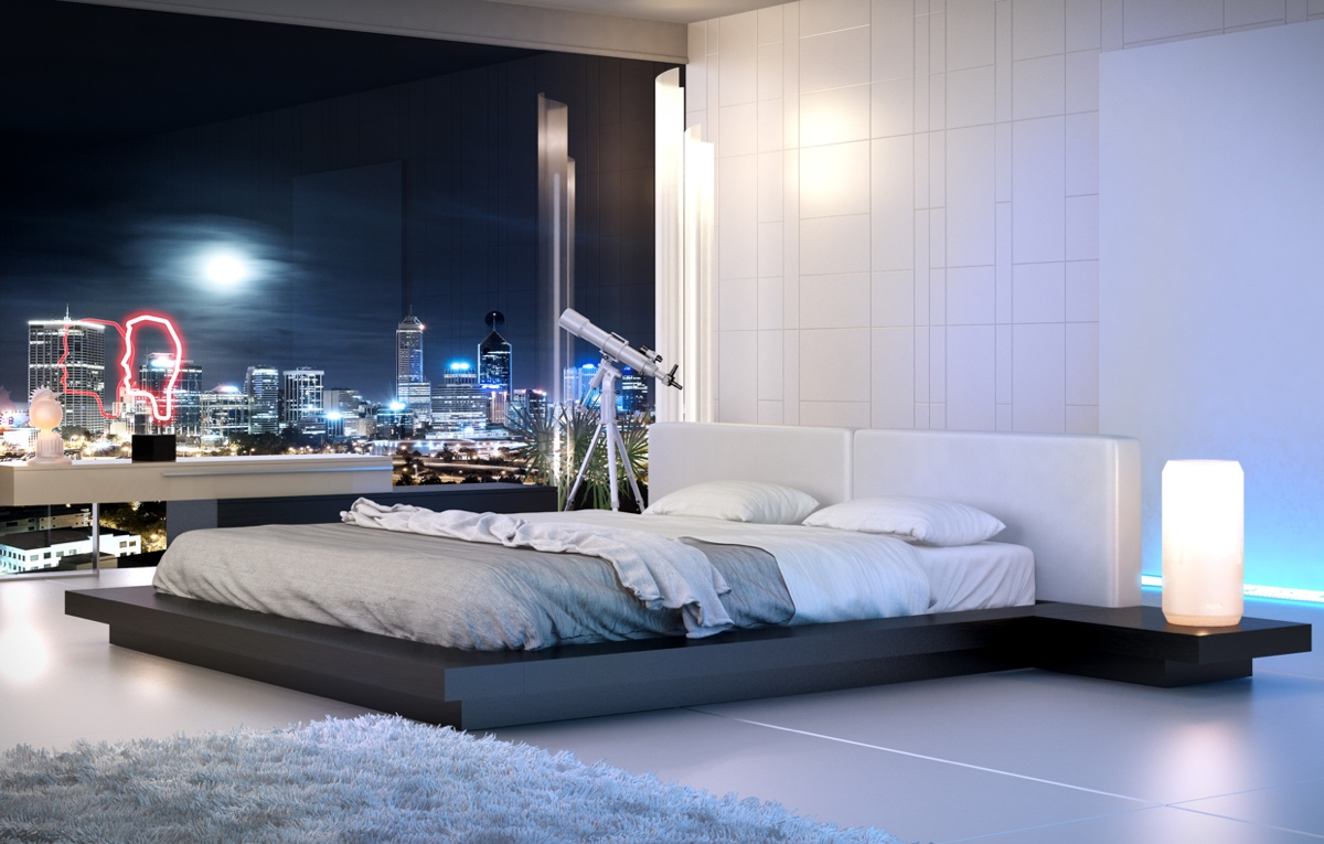 Кровать с низким вариантом ножек