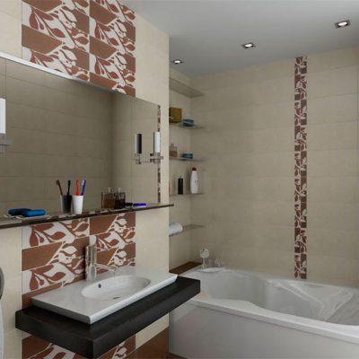Пример ванной с плиткой