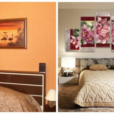 Варианты картин в спальне