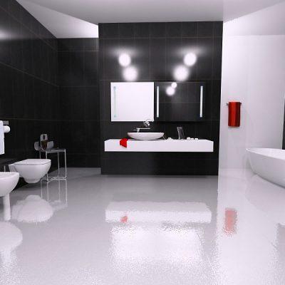 9Глянцевая ванная