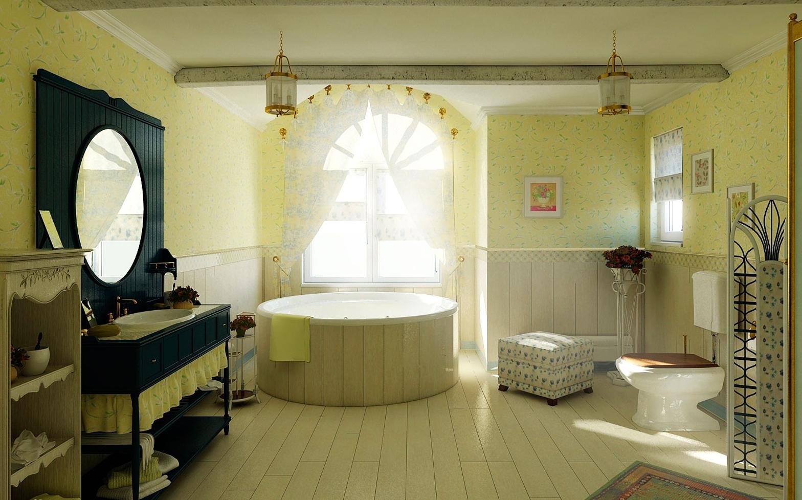 Окно в ванной