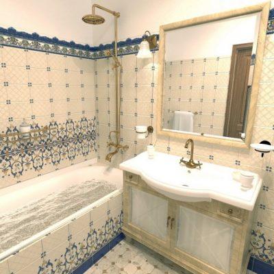Стильная ванная в стиле прованса