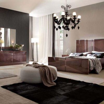 Модер в интерьере современной спальни