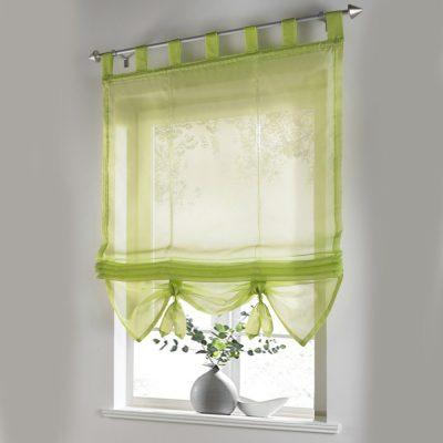 Нежные зеленоватые шторы