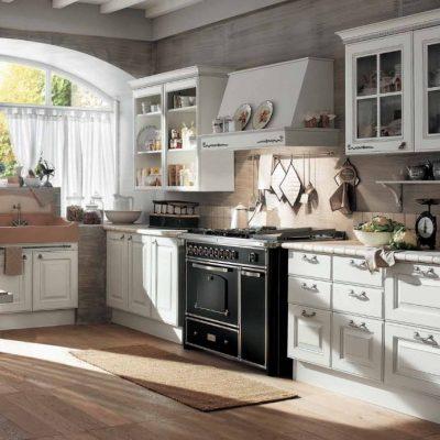 Арочное окно на фото кухни