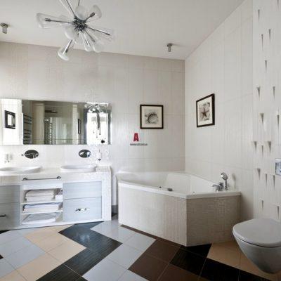 американский стиль в интерьере ванной комнаты