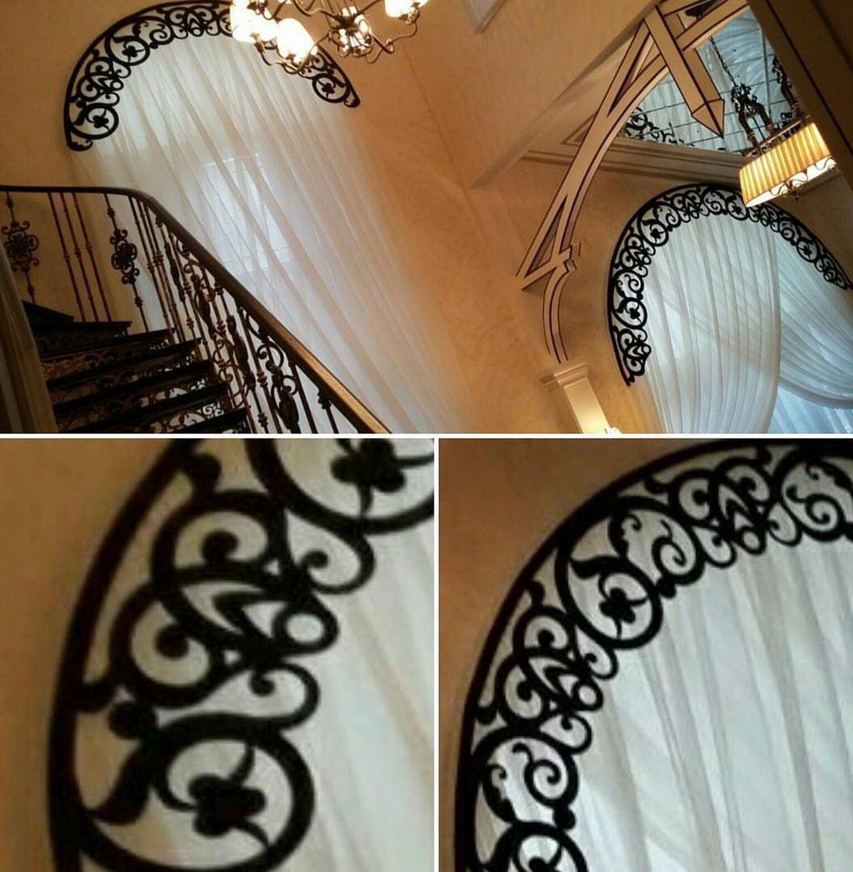 Ажурный ламбрекен по форме окна