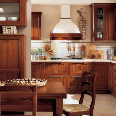 Коричневая кухня классика