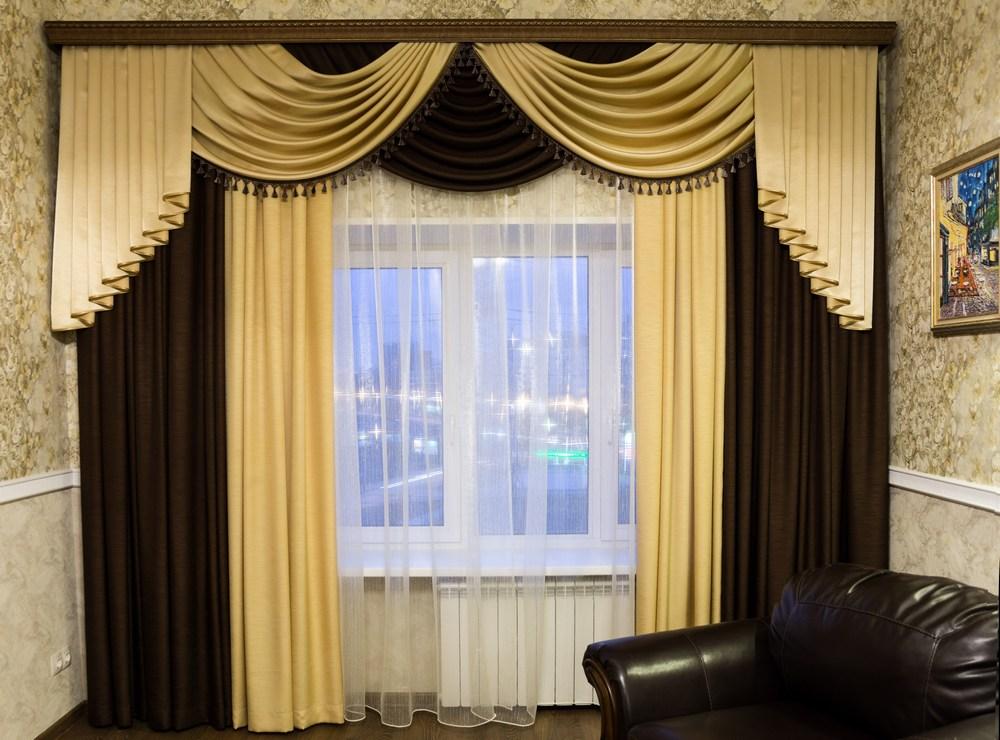 шторы для гостиной пошив своими руками - 2