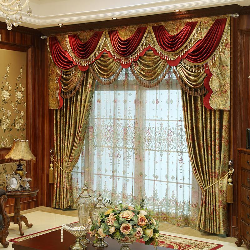 Классические шторы - это партьера, гардина и ламбрекен
