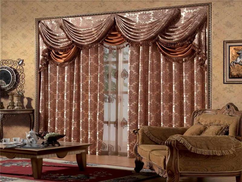 Невероятно роскошо выглядят жаккардовые шторы