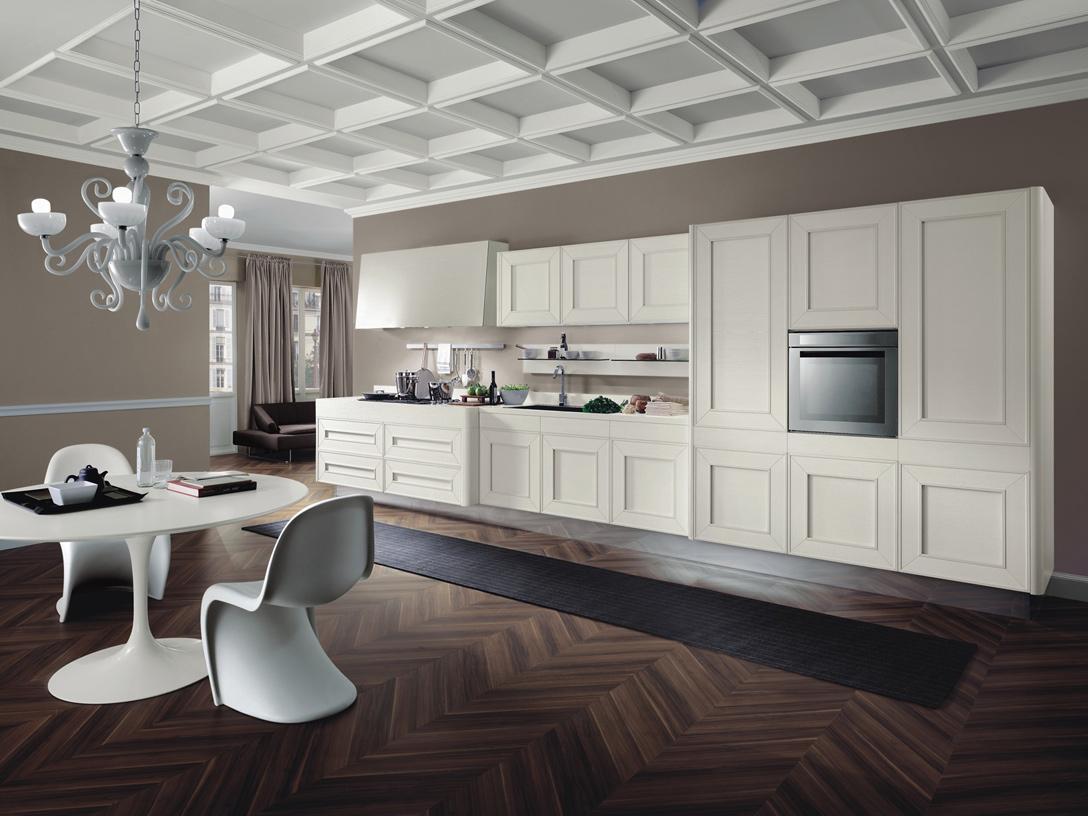 белая кухня-стенка