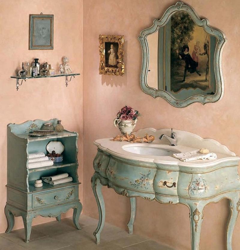 Декупаж мебели в стиле прованс в ванной