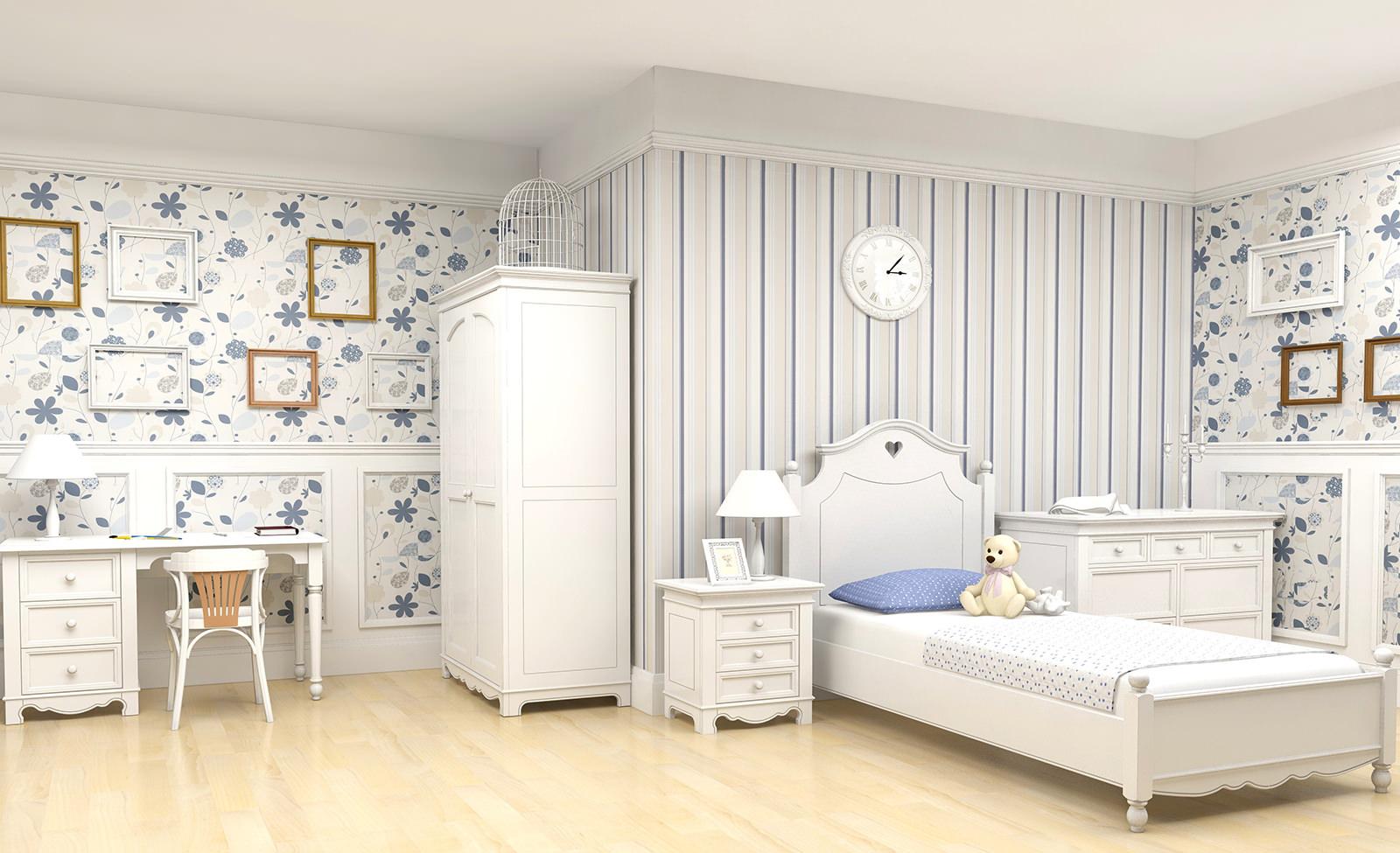 Сделать комнату интересной и необычной можно при помощи комбинации двух видов обоев с разными принтами