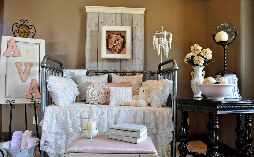 Аксессуары в стиле прованс для детской очень похожи на предметы декора, которые используют в интерьерах для взрослых