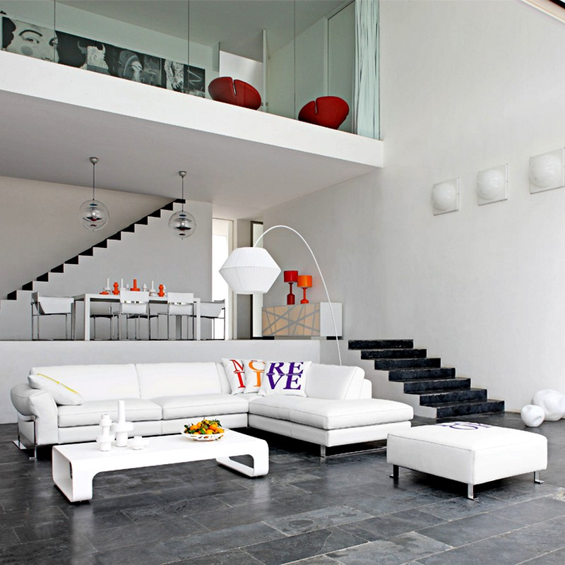 диван в гостиной в стиле модерн