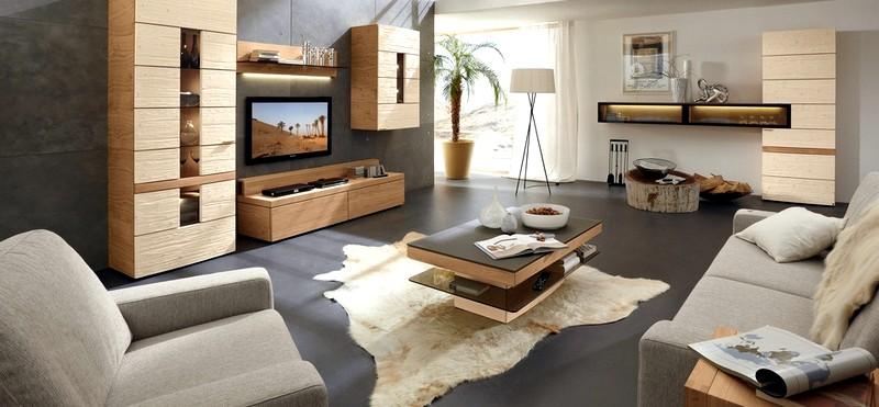 дизайн гостинорй в серо-коричневых тонах