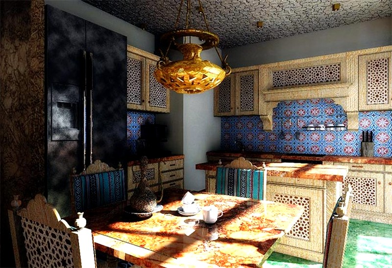 дизайн кухни в арабском стиле