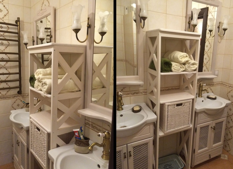 Мебель для ванной прованс: основные стилистические особенности