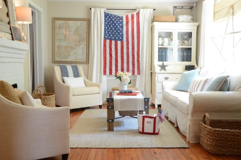 Гостиная в американском стиле: микс из традиций и рациональности