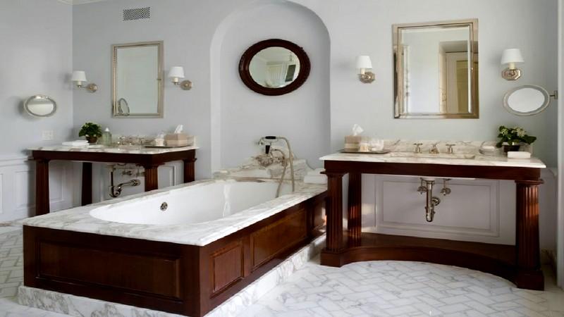 идея дизайна ванной в американском стиле