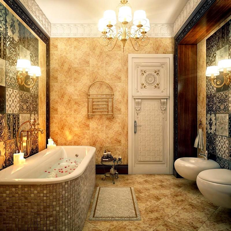 Интерьер ванной комнаты в американском стиле