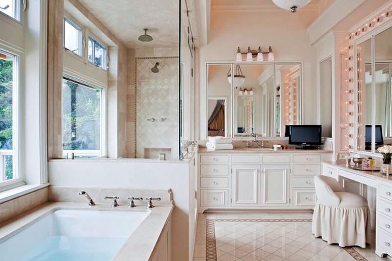 интерьер ванной комнаты в североамериканском стиле