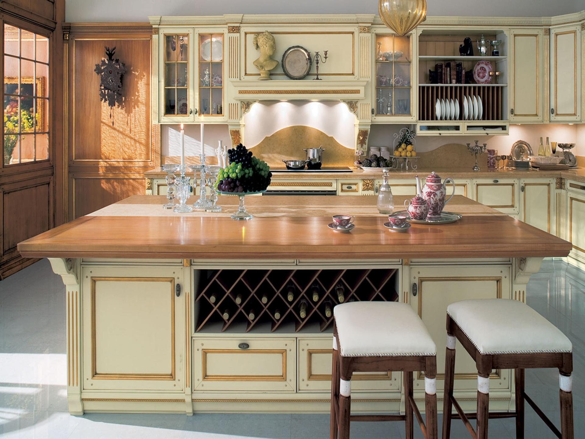 Кухня в итальянском стиле идеально впишется в классический интерьер квартиры