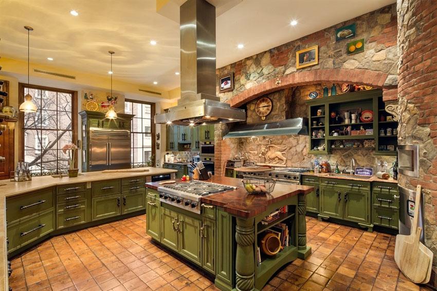 Богатый и изысканный итальянский стиль в интерьере кухни