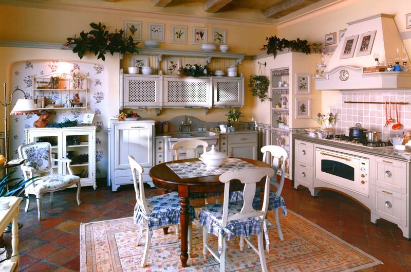 кухня в стиле французского кафе