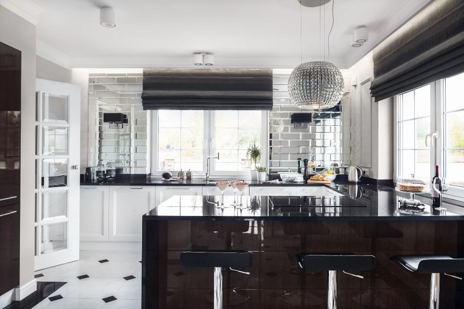 Люстра на кухне в стиле арт-деко