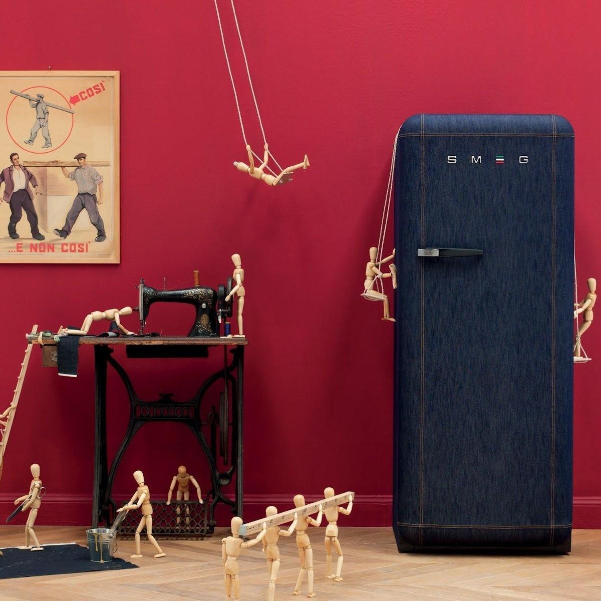«Джинсовый» холодильник Smeg