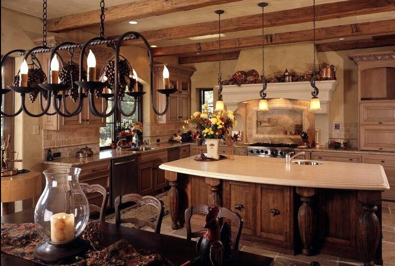 Оформление кухни в коричневых тонах
