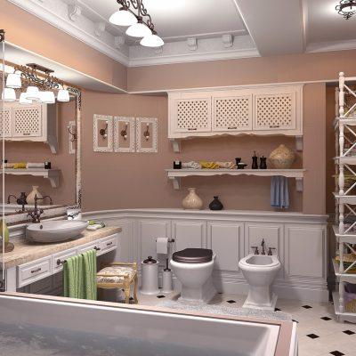 Полки, стеллажи и шкафчики в стиле прованс в ванной