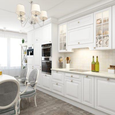 Прямой вариант кухонного гарнитура
