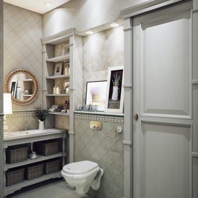 Санузел в ванной в стиле прованс