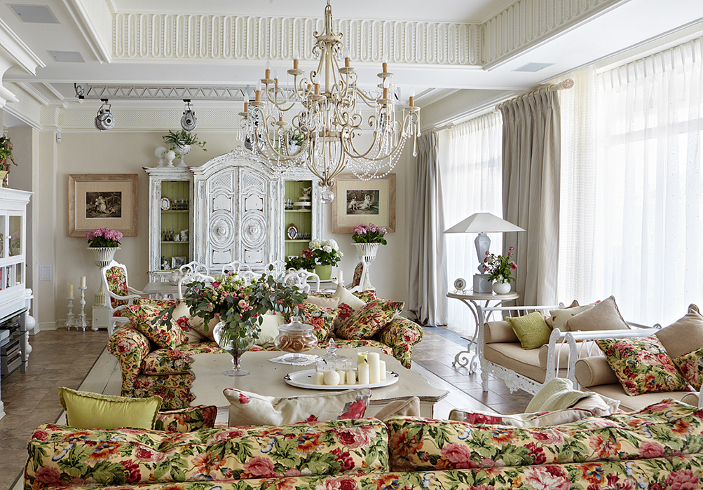 Стиль прованс сочетает в себе деревенскую простоту и французский шарм
