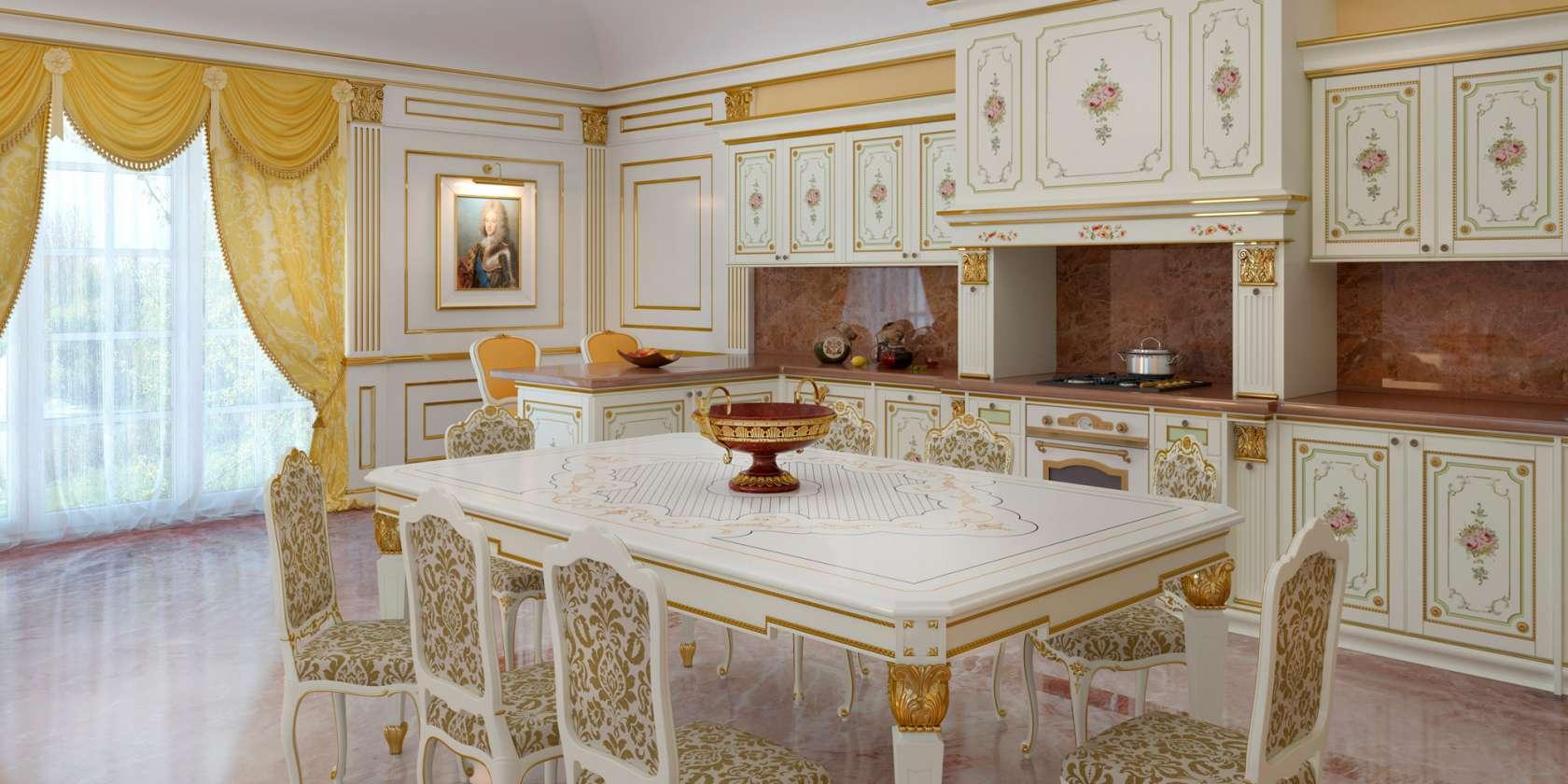 Желтый цвет штор в комбинации со светлой отделкой и фасадом мебели - наилучший вариант для темной кухни