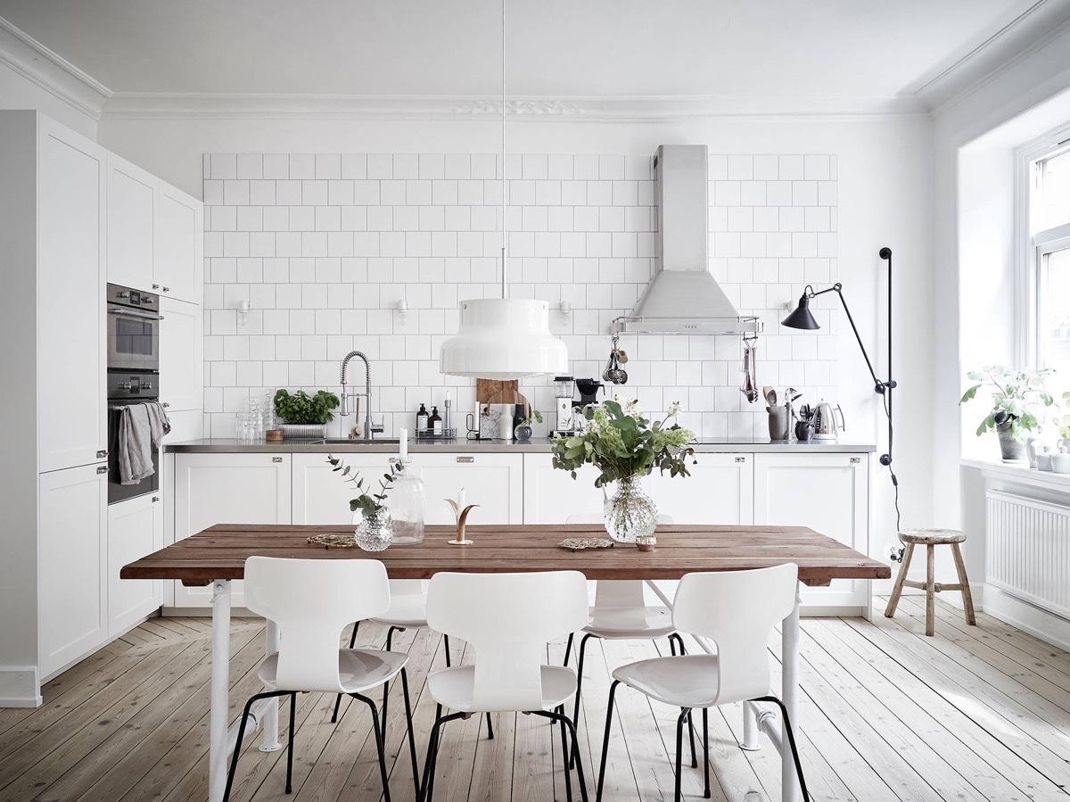 Кухня в скандинавском стиле: лаконичная красота
