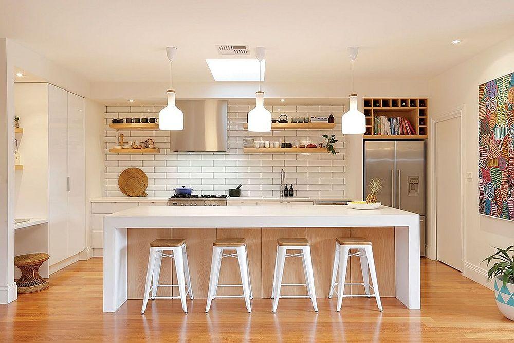 Обычно кухню в скандинавском стиле оформляют в белом цвете