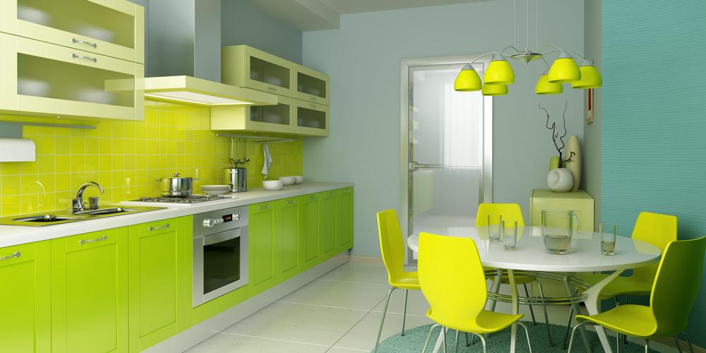 На кухне освещение подвесной конструкции обычно используют для подсветки обеденной зоны