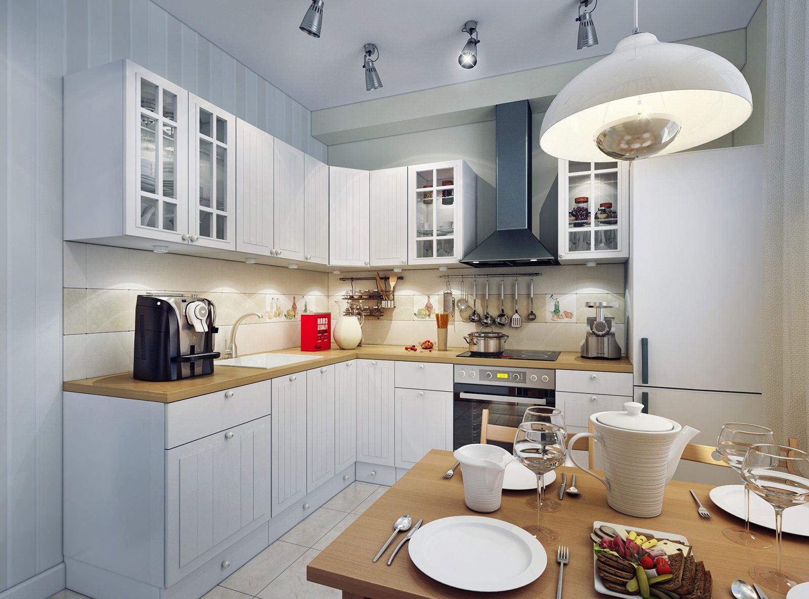 Отличным вариантом станет комбинирование двух типов освещения: подвесной люстры и потолочной конструкции